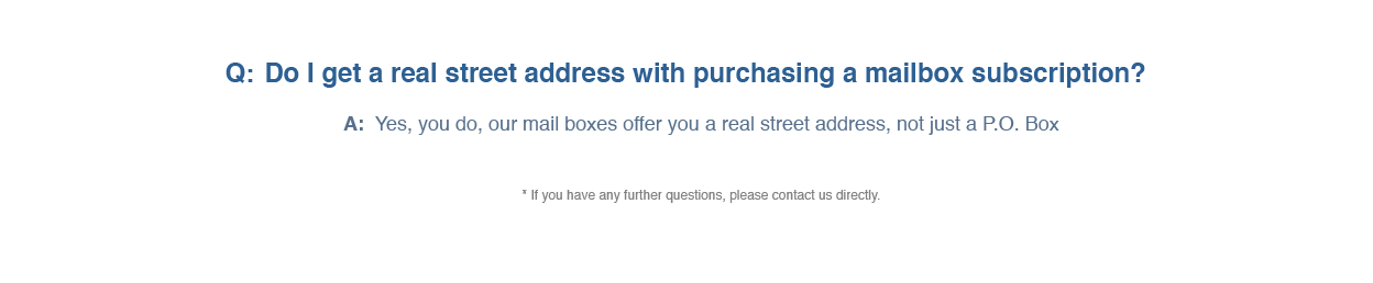 Mailboxes FAQs