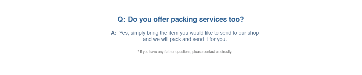 Packing Services FAQs